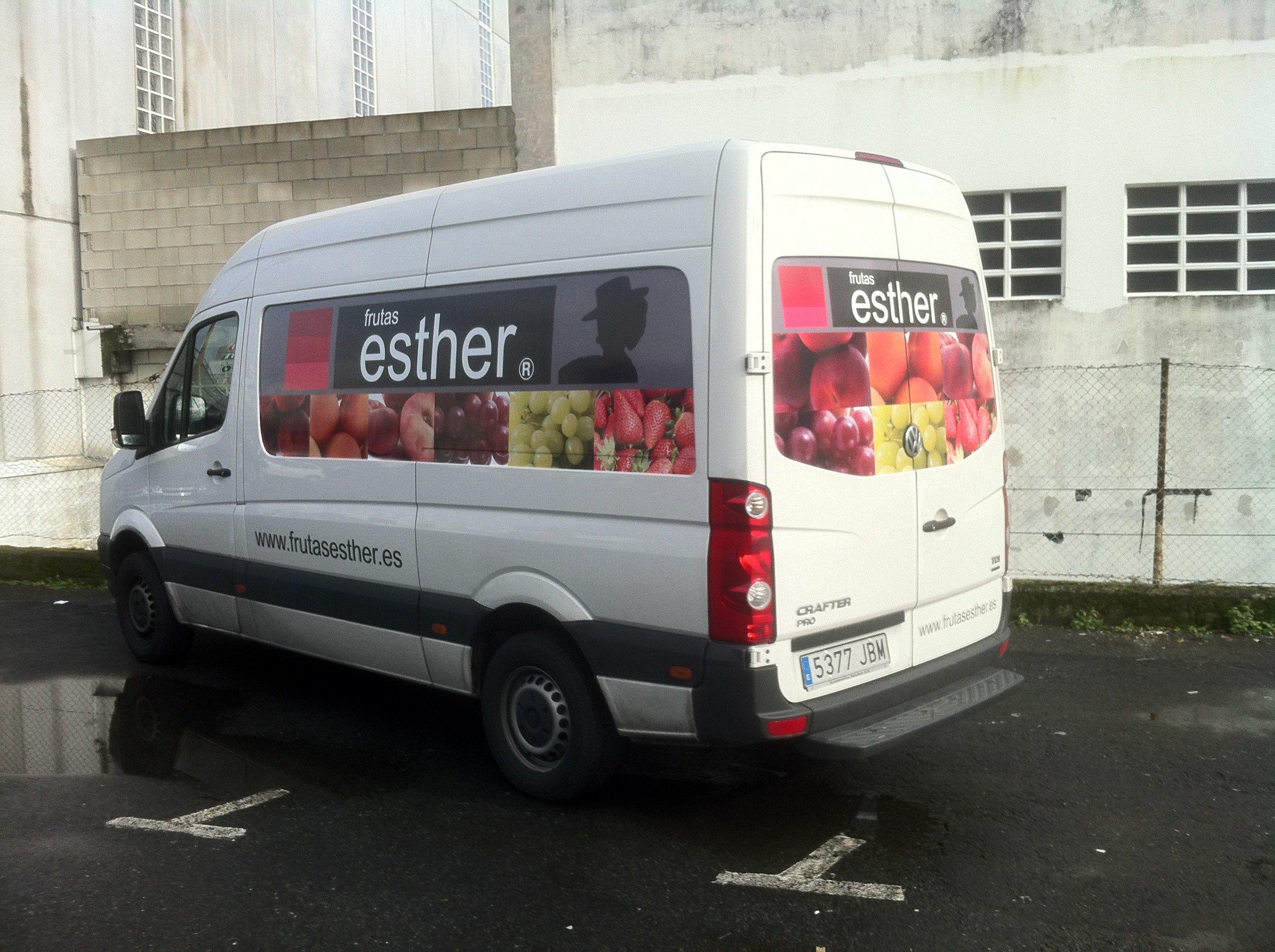 Rotulación Furgoneta Frutas Esther